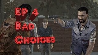 The Walking Dead Ep. 4 Around Every Corner - Bad/Failed Choices Complete (PS4 1080p60fps)