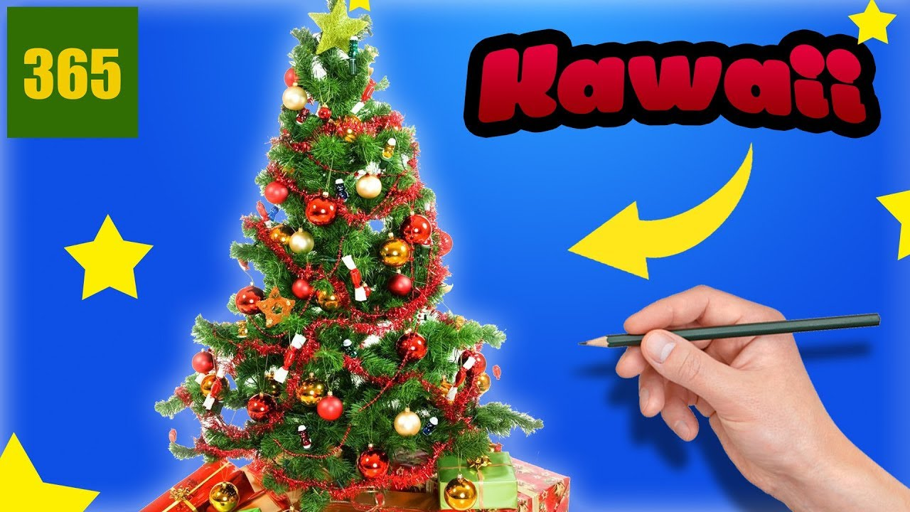 Comment Dessiner Sapin De Noël Kawaii étape Par étape Dessins Kawaii Facile
