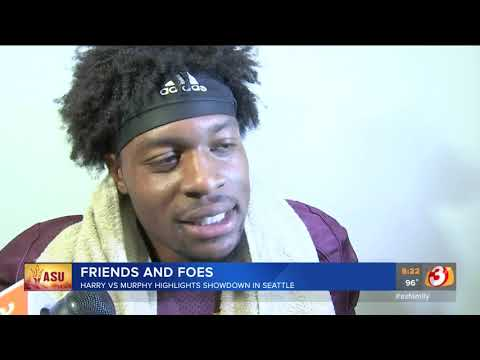 VIDEO: ASU\'s N\'keal Harry and Washington\'s Byron Murphy meet for first time Saturday