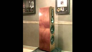 legacy audio signature se speaker in natural sapele pommele finish