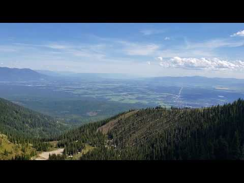 PANORAMIC VIEW OF GLACIER NP REGION FROM SUMMIT OF BIG MOUNTAIN, WHITEFISH, MT