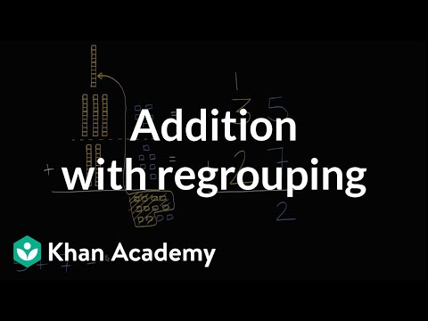 Addition with regrouping | Addition and subtraction within 100 | Early Math | Khan Academy