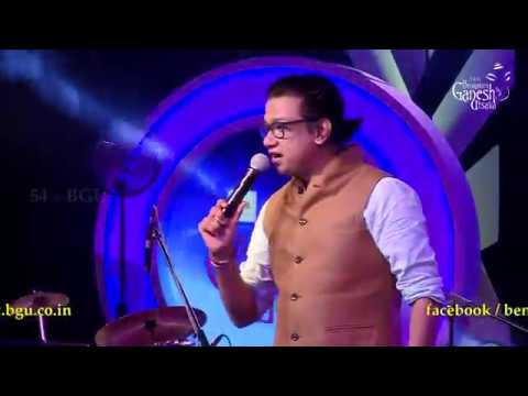 "Vijay Prakash singing ""Khali Quarter Baatli Hange Lifeu"" @ 54th Bengaluru Ganesh Utsava"