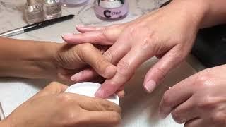 Cách Làm Bột Nhúng Trắng Hồng Trên Móng Thiệt NHANH ĐẸP NÉT- Pink And White Dipping On Real Nails