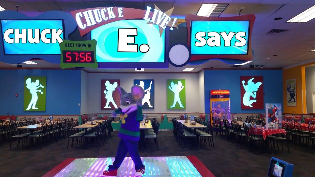 Chuck E Live Stage Chuck E Says 2014 Youtube