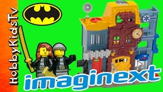Imaginext FIRE Rescue City Center Batman, Trixie Opening + Adventure HobbyKidsTV