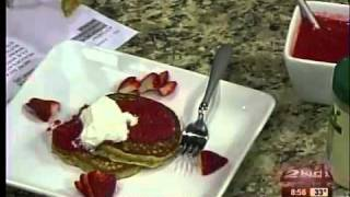 Low-fat Peanut Butter Pancakes With Strawberry Puree Part 2