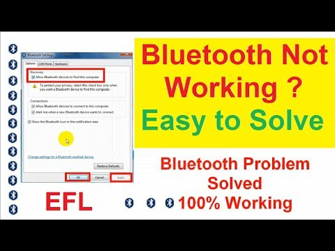 How to Fix Bluetooth problems of Windows 7/8/10 | Bluetooth device connected but not working