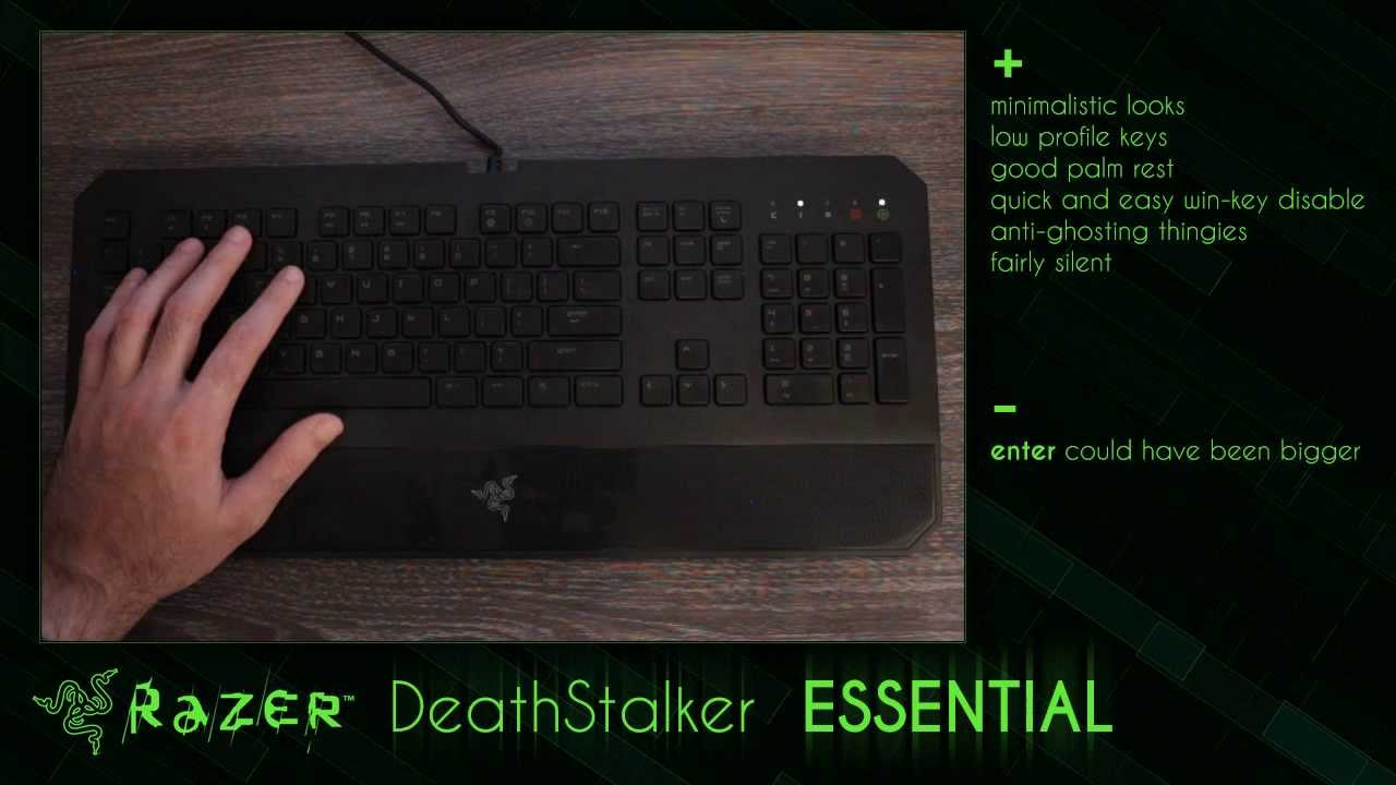 33e569129d1 Razer DeathStalker ESSENTIAL keyboard - review - YouTube