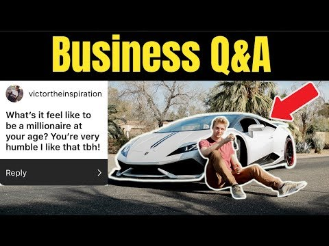 What Is It Like To Be An 18 Year Old Millionaire? (Business Q&A)