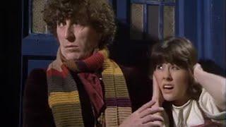 The Doctor and Sarah escape the Mandragora Helix - Doctor Who - The Masque of Mandragora - BBC