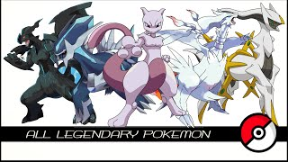 All Legendary u0026 Mythical Pokemon (伝説のポケモン)