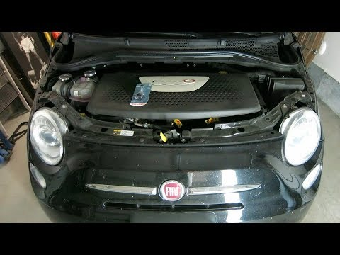 how to install replace a new headlight bulb for fiat 500 fiat 500e