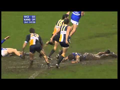 Wet weather AFL footy