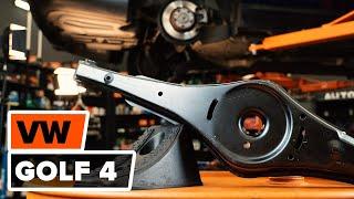 Instalace přední a zadní Řídící páka zavěšení kol VW GOLF: video příručky