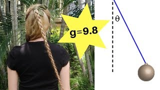 Using hair to measure acceleration due to gravity