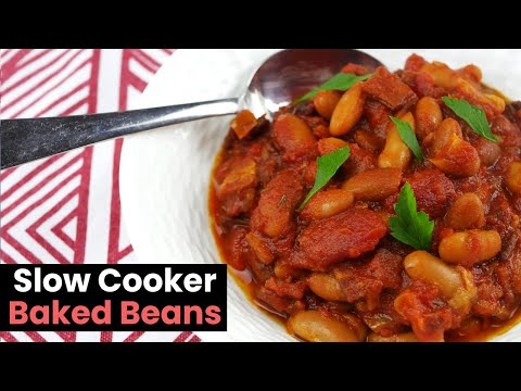 Delicious Homemade Slow Cooker Baked Beans