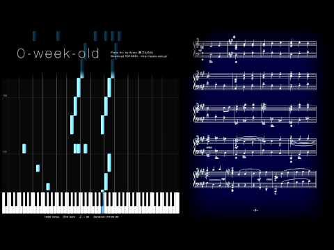 ピアノ楽譜で 0-week-old (プリパラ / PriPara / ファルル) Piano Version
