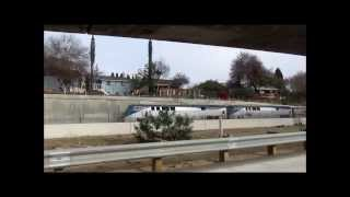 Amtrak DETOUR over the San Gabirel sub/I-10 1/12/14 & 18520 on train 332 1/9/14