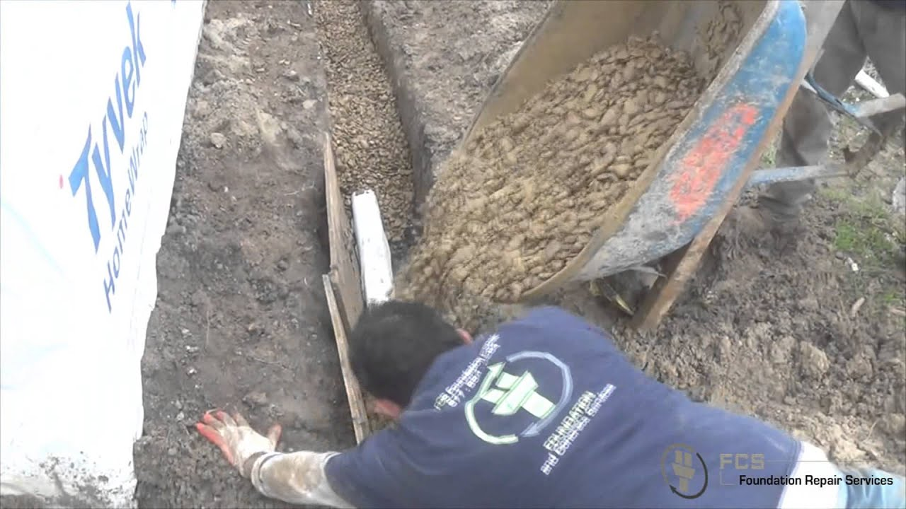 Pier And Beam Repair And French Drain Installation
