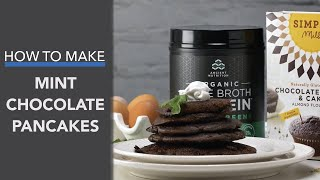 Mint Chocolate Chip Pancakes Recipe with Bone Broth Protein