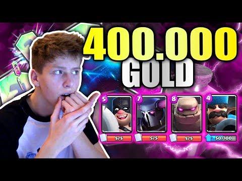 400.000 Gold (200€) für Upgrades ausgeben! • Clash Royale deutsch