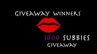 Giveaway Winners| 1000 Subbies Giveaway Thumbnail
