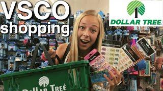 dollar tree VSCO shopping CHALLENGE!!