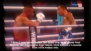 Avni Yıldırım&Chris Eubank IBO-Super Orta Siklet Çeyrek Final Maçı Sonucu-Erol UĞUR