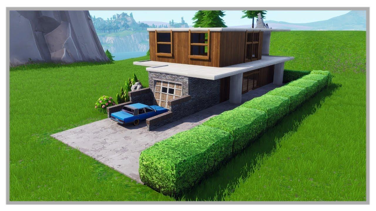Fortnite creative modern house creation 01