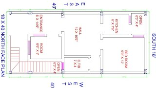 18 × 40 north face house plan under 10 lakh