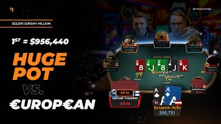 HUGE POT Vs. €urop€an In The $25,500! | Twitch Poker Highlights