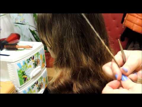 Чистка секущихся волос.