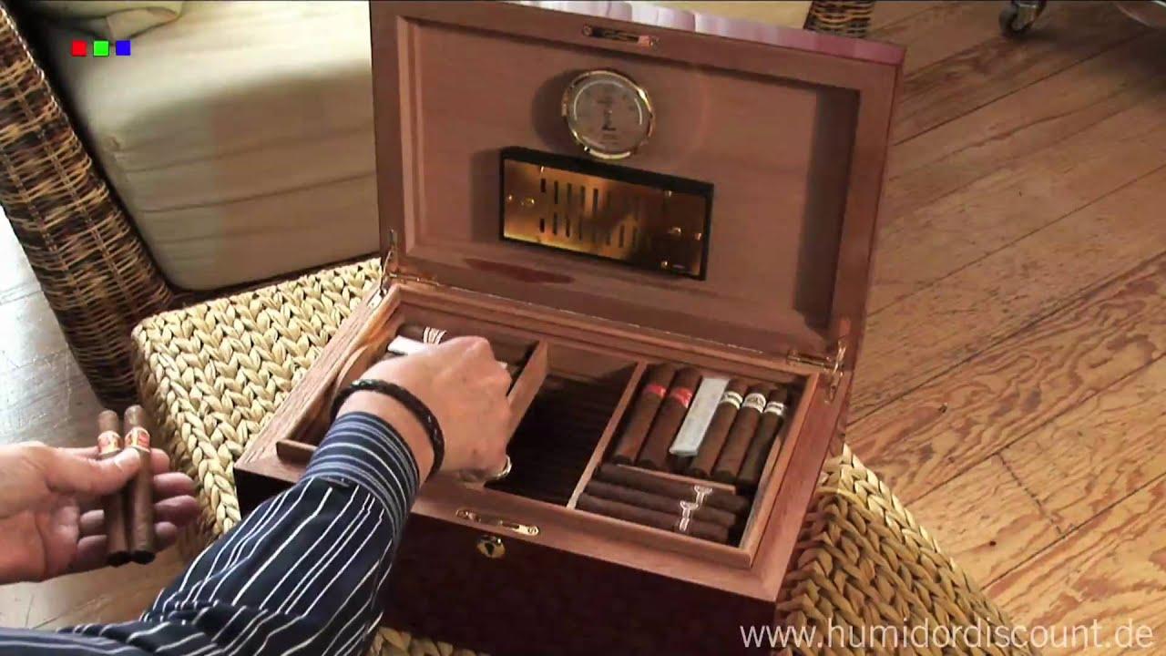 zigarren humidor richtig einrichten hygrometer kalibireren