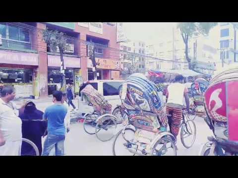 Dhaka city tour on riksha ( 4k )