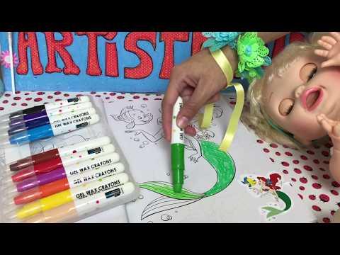 la-sirenita-/-colorear-y-pintar-dibujos-de-ariel-la-sirenita---coloring-ariel-little-mermaid