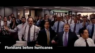 Floridians before hurricanes and Floridians during hurricanes