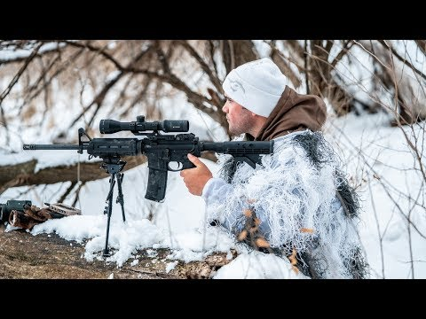 Arctic GHILLIE SUIT Coyote Hunting!!! (Predator Control)