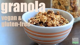 Granola (vegan & Gluten-free) Something Vegan