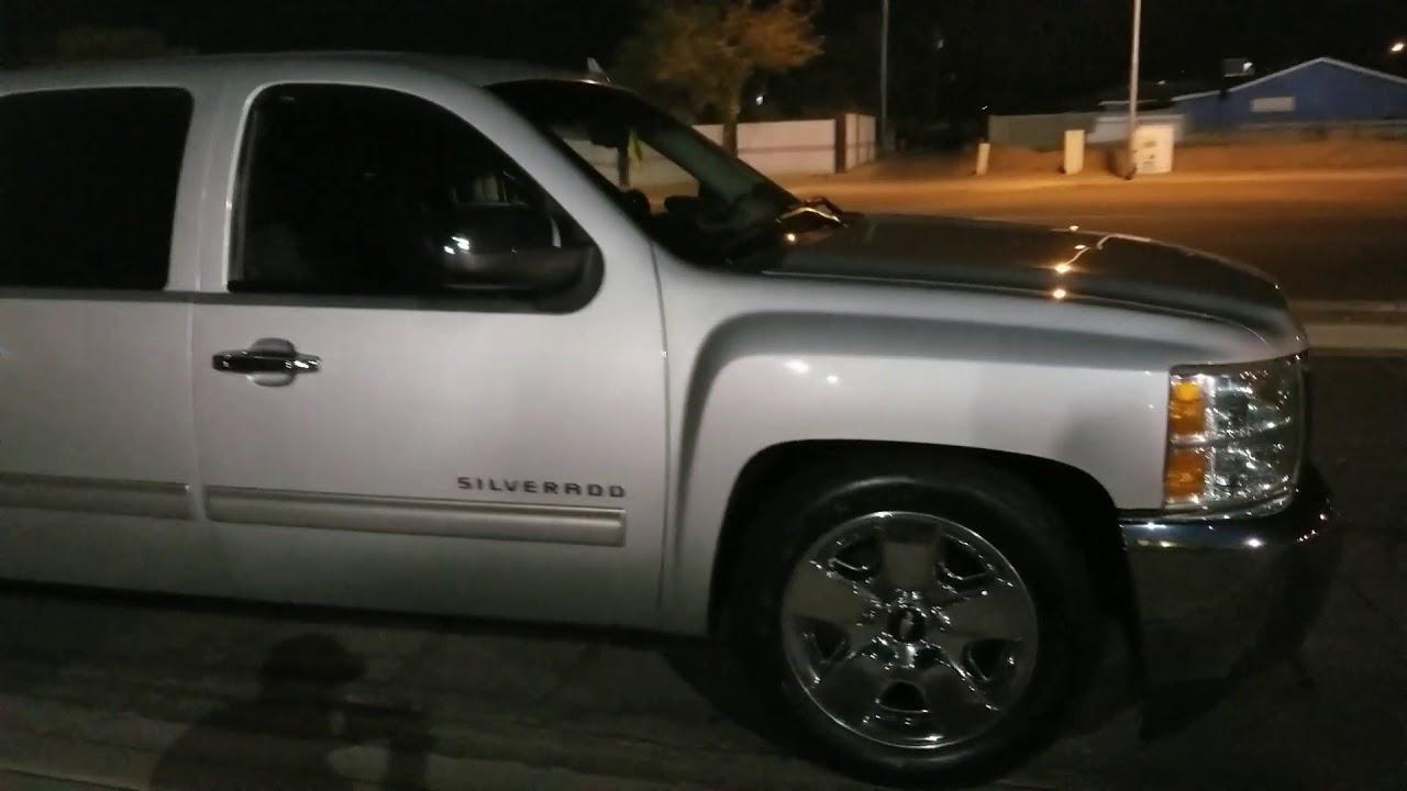 Gmc Sierra Truck >> 2013 Chevy Silverado lowered 4/6 bell tech drop - YouTube