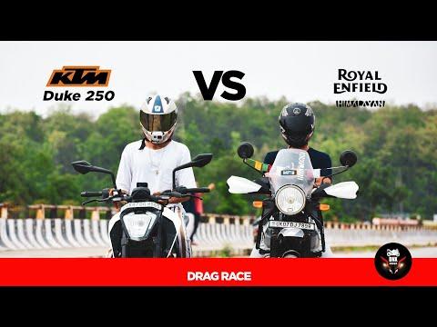 Duke vs Himalayan || Drag race top end || 250cc Vs 411cc