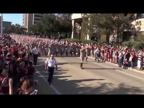 Fightin' Texas Aggie Band March-in to Kyle Field - Mississippi State Game on Oct 3, 2015