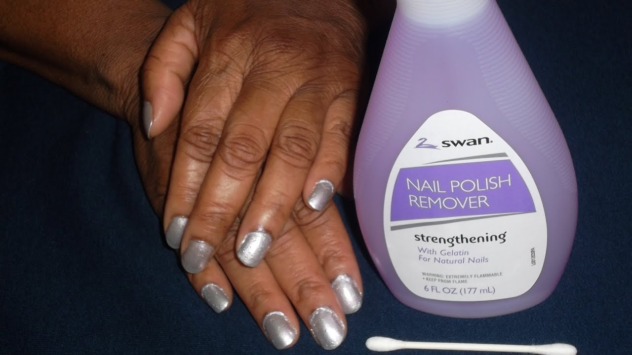 REMOVING NAIL POLISH OFF SKIN AROUND NAILS NEATLY - YouTube