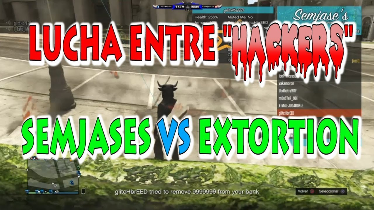 LUCHA ENTRE `HACKERS` - SEMJASES VS EXTORTION !!!