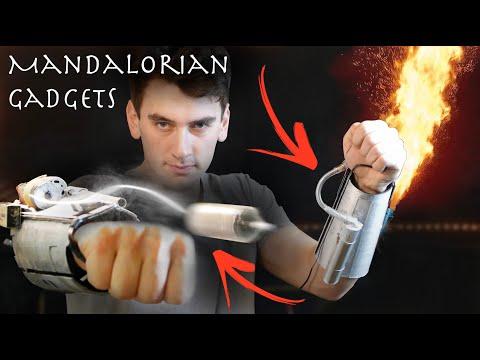 Make Working Mandalorian Flamethrower Grappling Hook Gauntlets Youtube