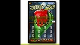 $5 -WICKED CASH - NEW - BIG WIN! Lottery Scratch Off instant win tickets  BIG WIN!!  MASS LOTTERY