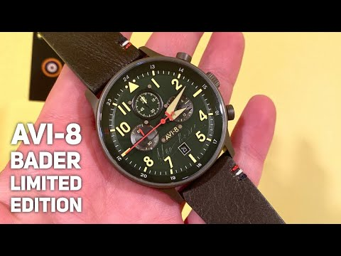 AVI 8 AV-4072-02 Hawker Hurricane Bader Chronograph Watch Review