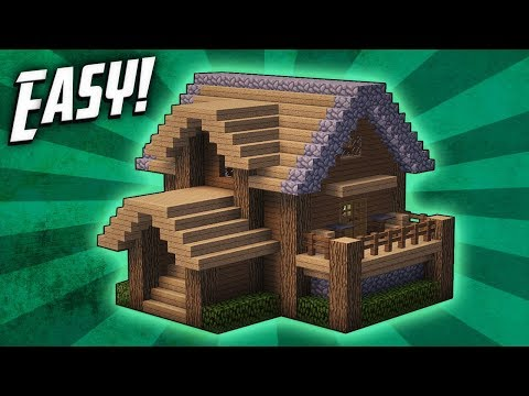 Thumbnail: Minecraft: How To Build A Survival Starter House Tutorial (#4)