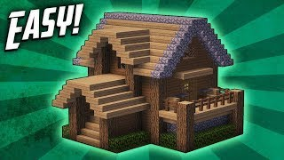 Minecraft: How To Build A Survival Starter House Tutorial #4