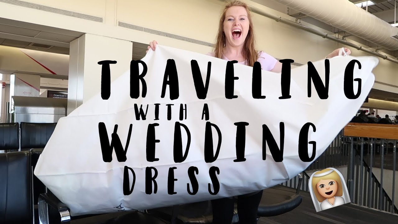 TRAVELING WITH A WEDDING DRESS! 👰🏻 | Airport Talks 9